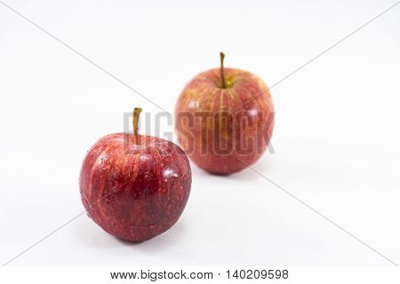 Red apple isolated on white background.Fruit for health and diet and hi-vitamin c.