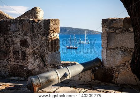 Aegean Sea From The Bodrum Castle