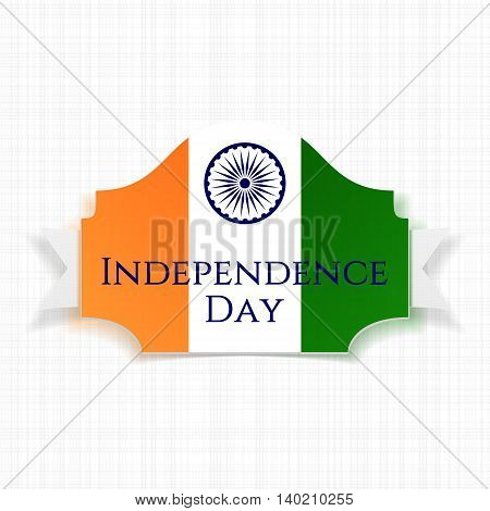 Indian Independence Day. Banner with Ribbon. Vector Illustration