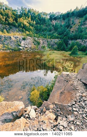 Abandoned Flooded Quarry, Czech Republic