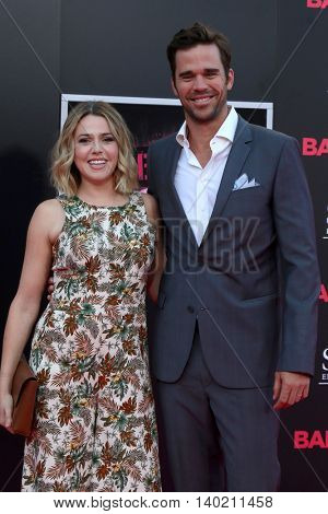 LOS ANGELES - JUL 26:  Majandra Delfino, David Walton at the