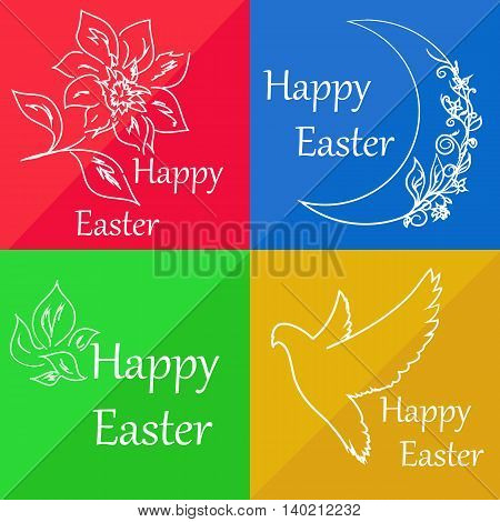 Set cards for congratulation on Easter. It can be used as a mini-card or accompanying card to the main gift