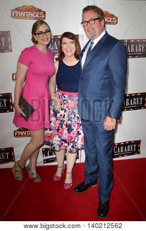 LOS ANGELES - JUL 20:  Katie Haston, Kate Flannery, Chris Haston at the