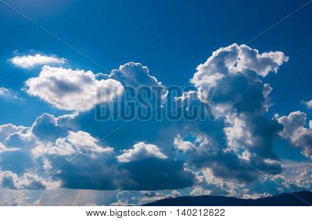 cloud. Clouds in shape. The clouds form. Shape the clouds group in any way.