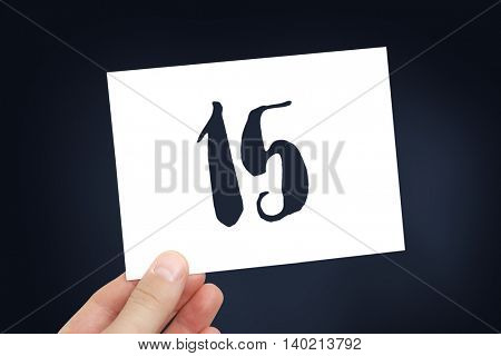 Number 15 concept