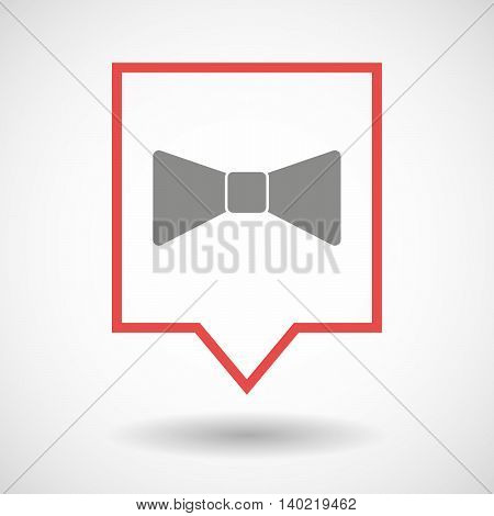 Isolated Line Art Tooltip Icon With  A Neck Tie Icon