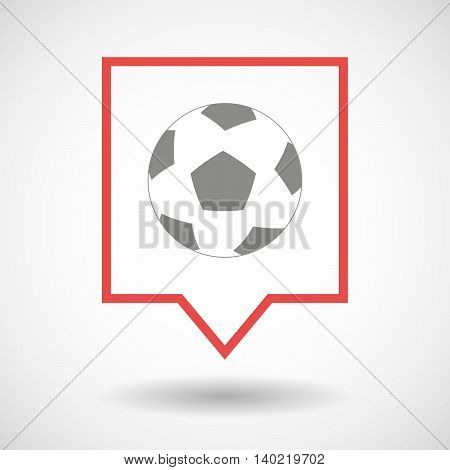Isolated Line Art Tooltip Icon With  A Soccer Ball