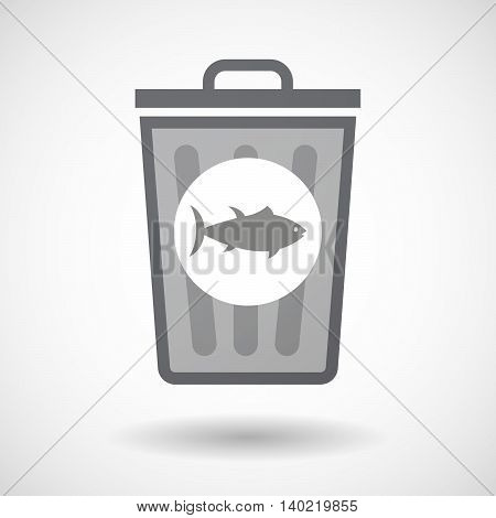 Isolated Trash Can Icon With  Two Hands Giving And Receiving  Or Protecting
