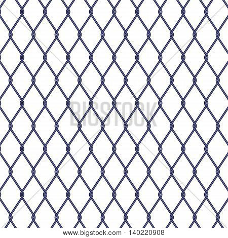 Wire fence on white background stock vector