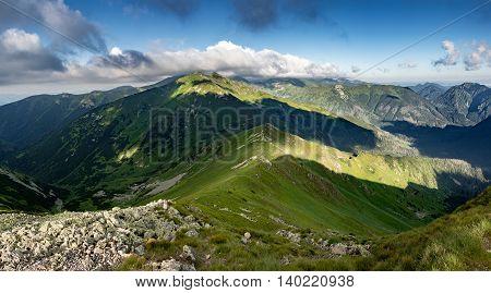 On Ridge Of Summer Mountains