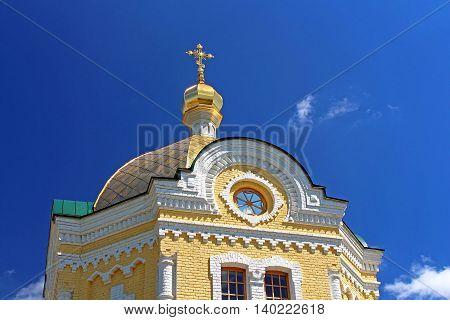 Dome of St. Sergius of Radonezh temple Kyiv-Pechersk Lavra, Kyiv, Ukraine