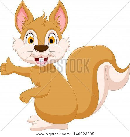 cute squirrel cartoon showing for you design
