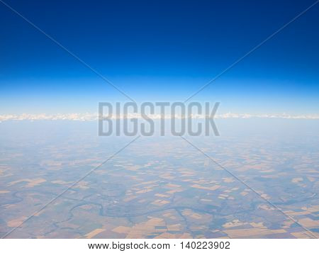 view from the airplane window, abstract background or landscape