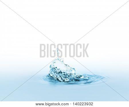 water splash closeup on a white background