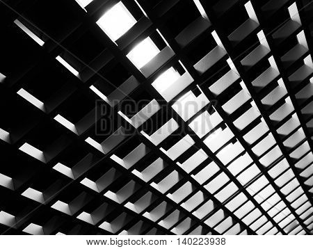 industrial background, abstract composition of light and shadow