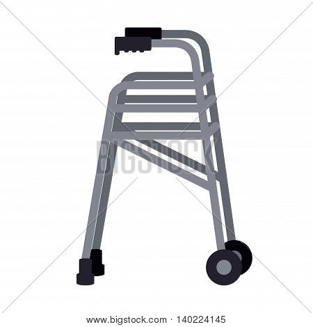 walker for disabled person isolated icon design, vector illustration  graphic