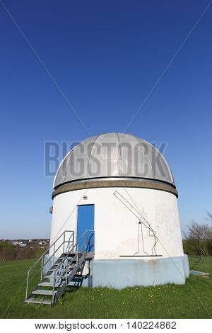 Aalborg, Denmark - May 8, 2016: Urania observatory in Aalborg, Denmark. The Urania Observatory in Aalborg contains the largest publicly accessible refracting telescope in Denmark
