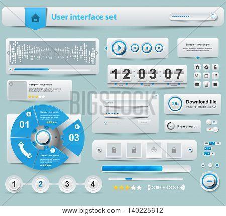 UI Elements Design white Web site design