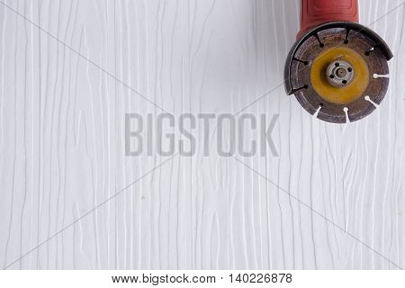 Red steel cutter  on white pattern  background suitable for background masonry and craftsman tool or equipment or household or background tool.