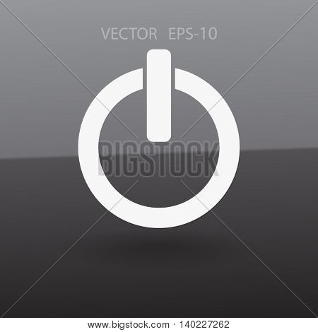 Flat icon of power