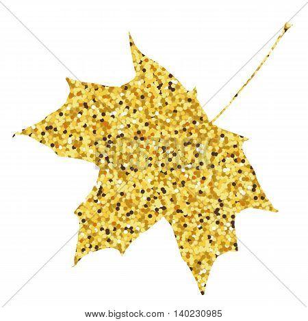 Autumn fall. Golden maple leaf background. Vector illustration.
