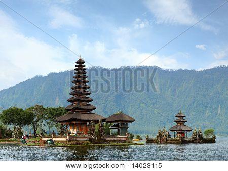 Hindu temple Bratan on a lake. Bali. Indonesia