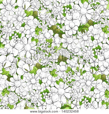 Floral outline background
