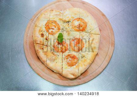 classic Italian focaccia during cooking