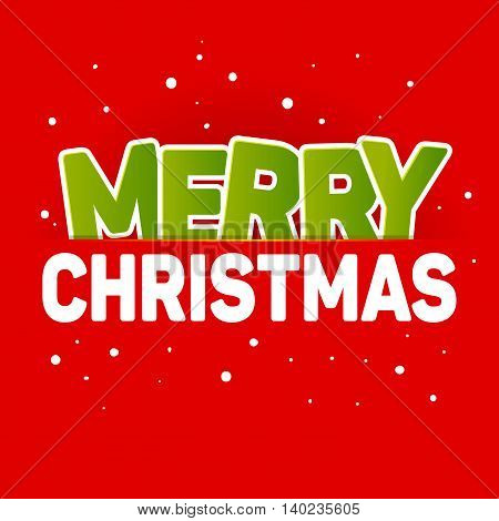 Vector stock of simple Christmas greetings with red background