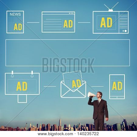 Advertiseting Commercial Marketing Digital Branding Concept
