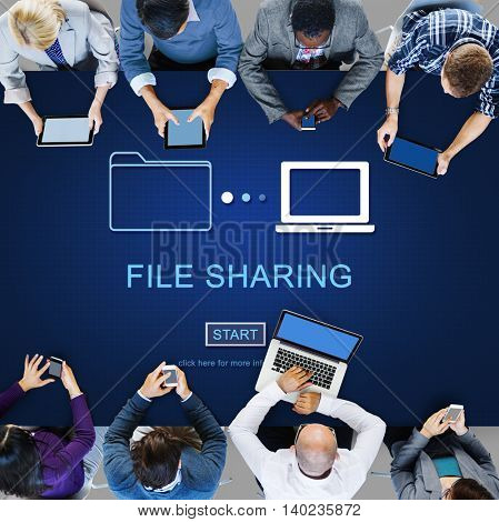 File Sharing Internet Technology Social Storage Concept