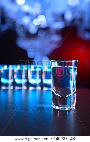 Vodka On A Black Table