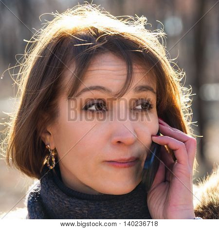 woman talking on the phone businessman on the street