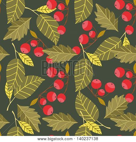 Autumn background with fall leaf vector illustration
