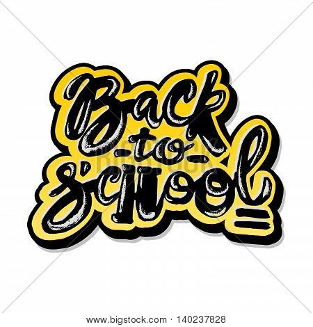 Back To School Lettering Chalk Motivation Inscription.