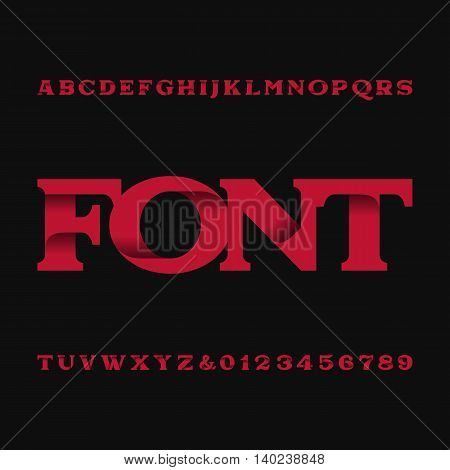 Decorative alphabet vector font. Type letters and numbers. Typography for headlines, posters etc.