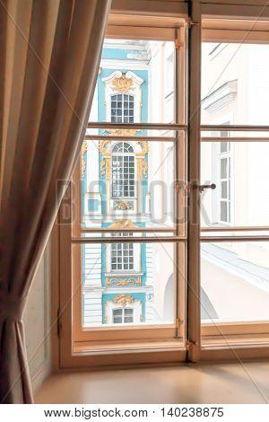 St. Petersburg, Russia-aprel 24 2016: Newspaper Room Lyceum In Pushkin.