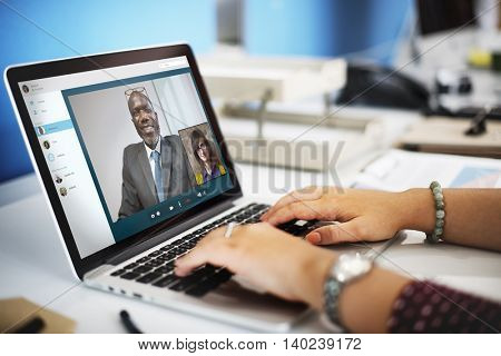 Video Call Chat Meeting Talking Concept
