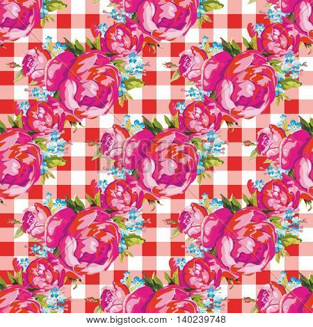 Seamless floral pattern with peony 4 Vector Illustration EPS8