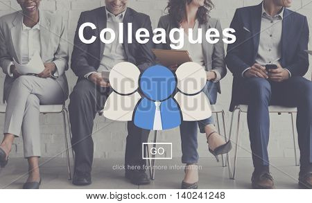 Colleagues Corporate Connection Collaboration Team Concept