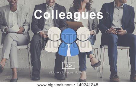 Colleagues Corporate Connection Collaboration Team Concept