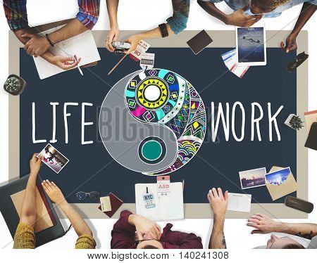 Life Work Balance Functional Nature Active Style Concept