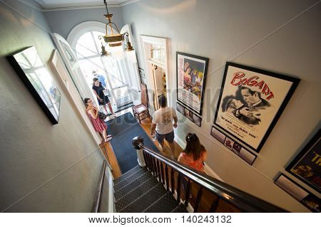 KEY WEST FLORIDA USA - MAY 03 2016: Gang way with stairs in the Hemingway House in Key West in Florida.