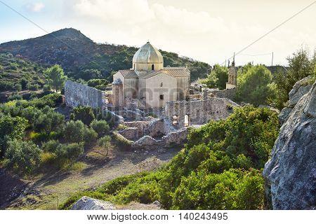 Church and monastery ruins in Zakynthos Greece