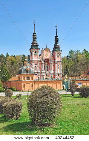 the famous Church of Swieta Lipka or Holy Lime in Masuria,Poland