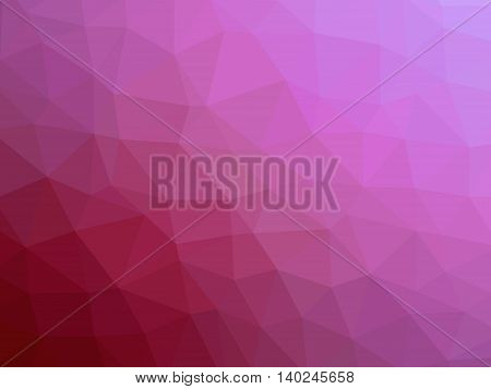 Abstract red pink magenta gradient polygon shaped background.