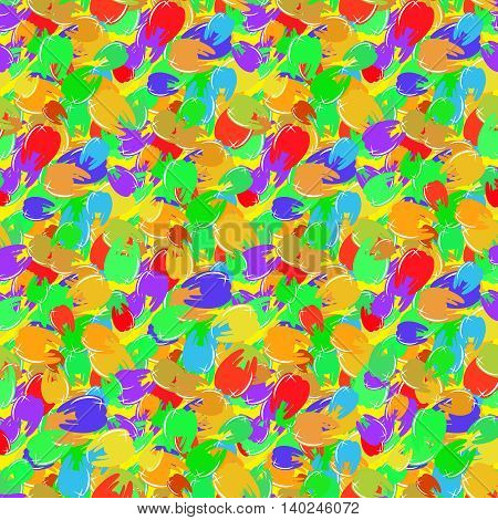 Multicolor tooth bright seamless pattern for background.