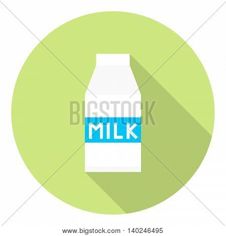 Milk Carton Package Flat Icon