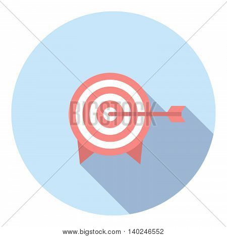Target With Arrow Flat Icon