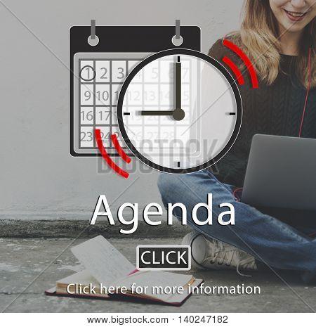 Agenda Appointment List Organizer Plan Reminder Concept